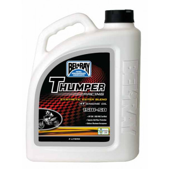 Моторное масло Bel-Ray Thumper Rac Synthetic Ester 4T 15W-50 (4L)