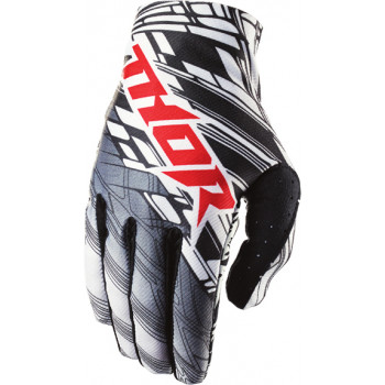 Мотоперчатки THOR S4 VOID URBAN Black-White-Red XL