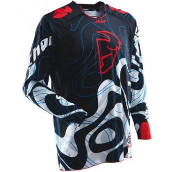 Кроссовая футболка THOR S12 CORE MOD Black-Red-White L