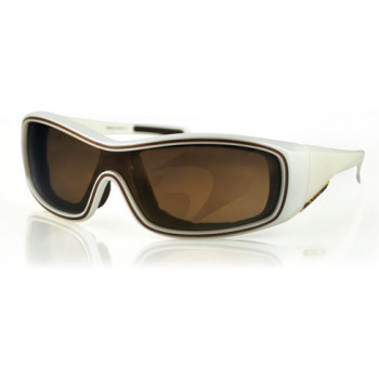 Очки защитные BOBSTER Zoe Convertible Pearl Frame Gold Mirror Brown Lens