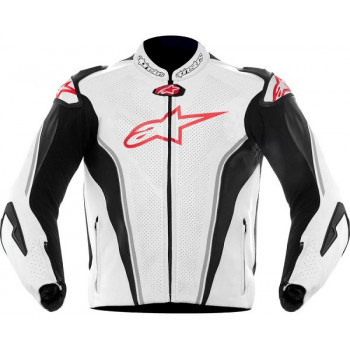 Мотокуртка кожаная ALPINESTARS GP TECH White-Black-Red 52