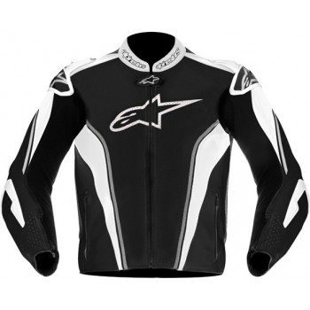 Мотокуртка кожаная ALPINESTARS GP TECH Black-Silver-White 58
