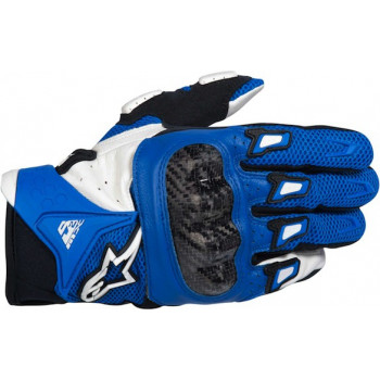 Мотоперчатки Alpinestars SMX-2 Air Carbon Blue-White S