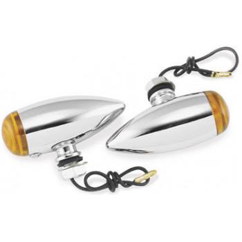 Указатели поворотов Biker's Choice Smooth Bullet желтые светофильтры