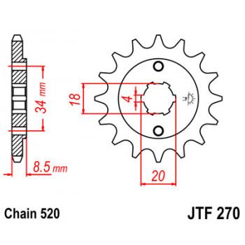 Звезда передняя JT Sprockets JTF270.15