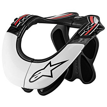 Защита шеи Alpinestars BNS PRO Black-White-Red L-XL (2014)