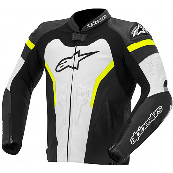 Мотокуртка кожаная Alpinestars GP Pro Black-White-Yellow-Fluo 54 (2014)