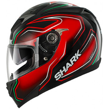 Мотошлем Shark S700 Pinlock Guintoli Black-Red-Green L
