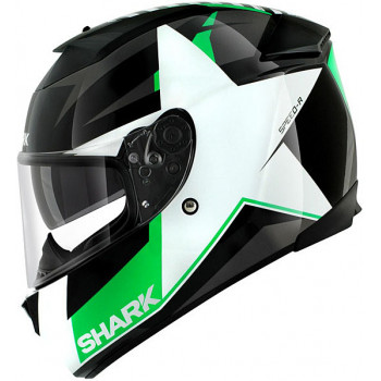 Мотошлем Shark Speed-R MXV Texas Black-White-Green L