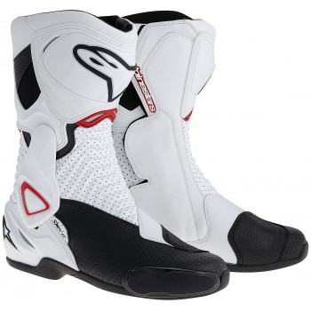 Мотоботы Alpinestars S-MX 6 Vented White-Black-Red 45
