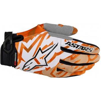 Мотоперчатки Alpinestars Racer Orange-White M