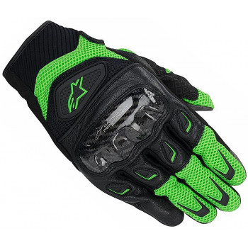 Мотоперчатки Alpinestars SMX-2 Air Carbon Green-Black XL
