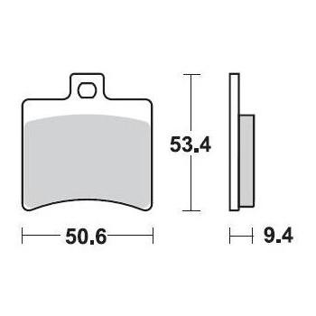 Тормозные колодки Braking BR 840SM1
