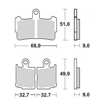 Тормозные колодки Braking BR 950CM55