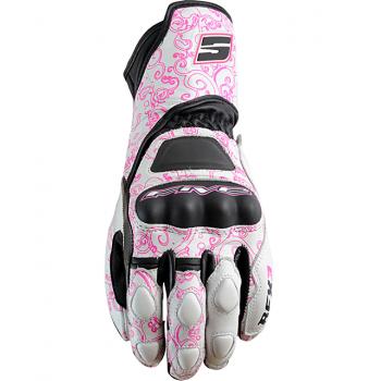 Мотоперчатки женские FIVE RFX-3 White-Pink M