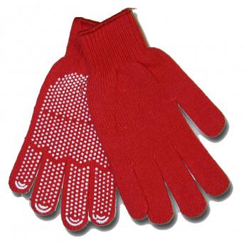 Перчатки рабочие красные