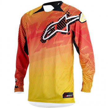Джерси Alpinestars Charger Orange-Red-Yellow XL