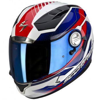 Мотошлем Scorpion EXO-1000 AIR Airline White-Blue-Red L