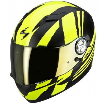 Мотошлем Scorpion EXO-500 AIR THUNDER Neon Yellow-Matt Black XL