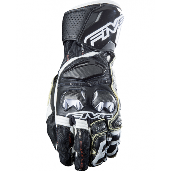 Мотоперчатки кожаные Five RFX Race Black-White M