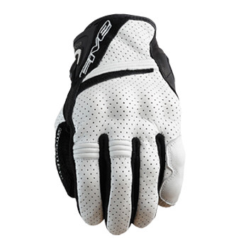 Мотоперчатки кожаные Five Sport City White-Black M