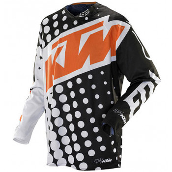 Джерси Fox 360 KTM Black-White L