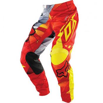 Кроссовые штаны Fox 180 Radeon Red-Yellow 38