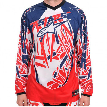 Джерси Alpinestars RACER JERSEY Red-Blue XL (2011)
