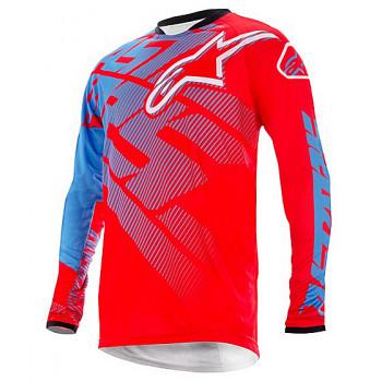 Джерси Alpinestars RACER JERSEY RED-CYAN-WHITE S (2013)