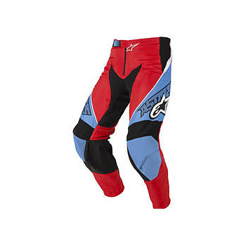 Мотоштаны Alpinestars Racer Red-Cyan-White 32
