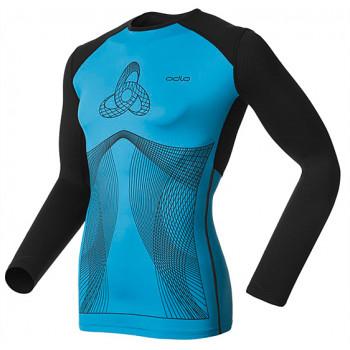 Термофутболка Odlo Shirt L/S Crew Neck Muscle Force Blue-Black L (2014)