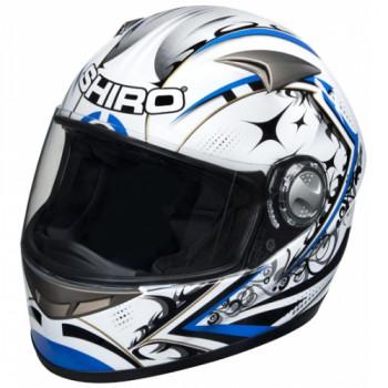 Мотошлем Shiro SH 338 Sepang Blue-White S