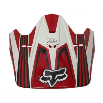 Козырек шлема для FOX V1 Race Visor Red