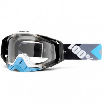 Мотоочки 100% Racecraft Goggle Hyperion Blue-Gunmetal - Clear Lens