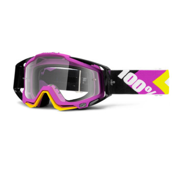 Мотоочки 100% Racecraft Goggle Hyperion Magenta - Clear Lens