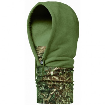 Головной убор Buff Hoodie Polar Fleece Duck Blind-Pine Polartec