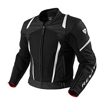 Мотокуртка REVIT GALACTIC текстиль-кожа Black-White 50
