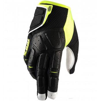 Мотоперчатки Ride 100% SIMI Black-Neon Yellow M