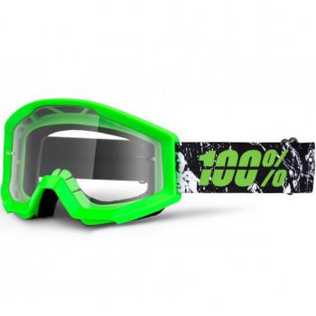 Мотоочки детские 100% Strata Moto Goggle Crafty Lime Clear