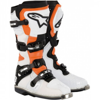 Мотоботы Alpinestars Tech 8 RS Vented White-Orange-Black 12 (47)