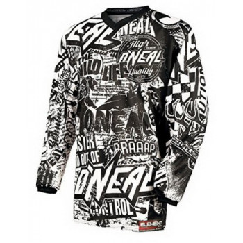 Джерси Oneal Element Wild Black-White L