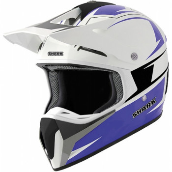 Мотошлем Shark SXR Ace White-Blue-Black S