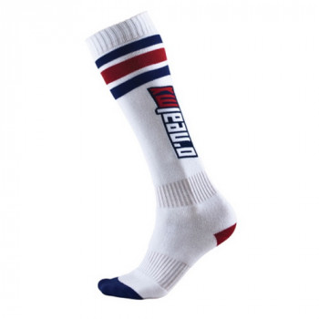 Носки Oneal Pro MX Tube White-Blue-Red
