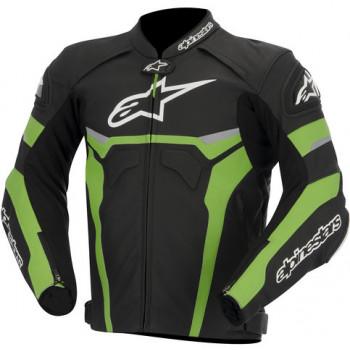 Мотокуртка Alpinestars CELER кожа Black-White-Green 52