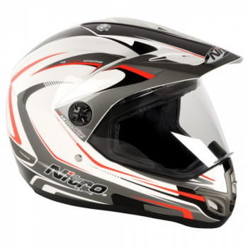 Мотошлем Nitro MX630 Devil White-Gun-Red XS