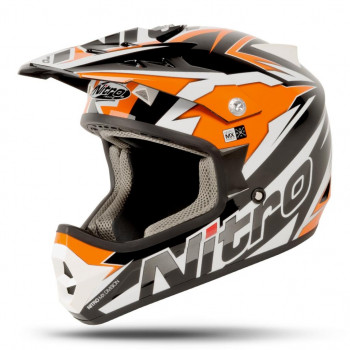 Мотошлем Nitro Shard Black-Orange-White S