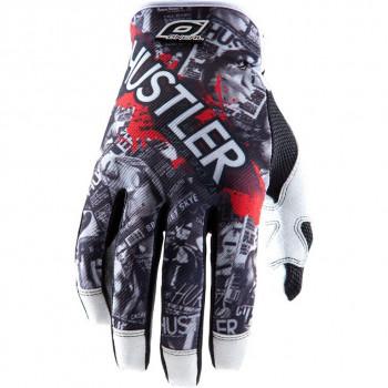 Мотоперчатки Oneal Hustler Black-White L