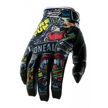 Мотоперчатки Oneal Jump Crank Black-Multi L