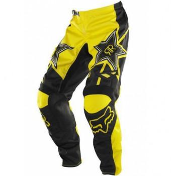 Кроссовые штаны FOX 180 Rockstar PNT Black-Yellow 32