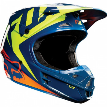 Мотошлем Fox V1 Race Navy-Yellow L